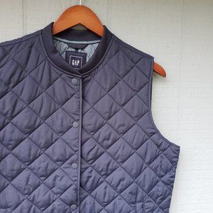 Gap Quilted Navy Blue Puffer Vest Low Profile XL